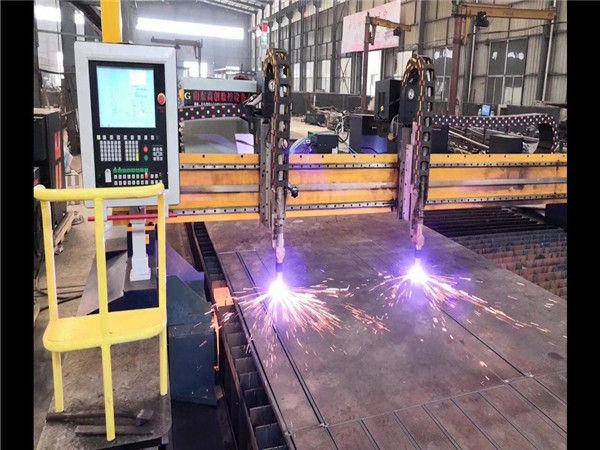 Linea di produzione del fascio H della macchina di taglio al plasma di CNC del cavalletto della doppia guida Sistema di Hypertherm CNC