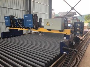macchina da taglio al plasma a cnc a doppio azionamento che taglia la linea di produzione di travi in acciaio solido / h